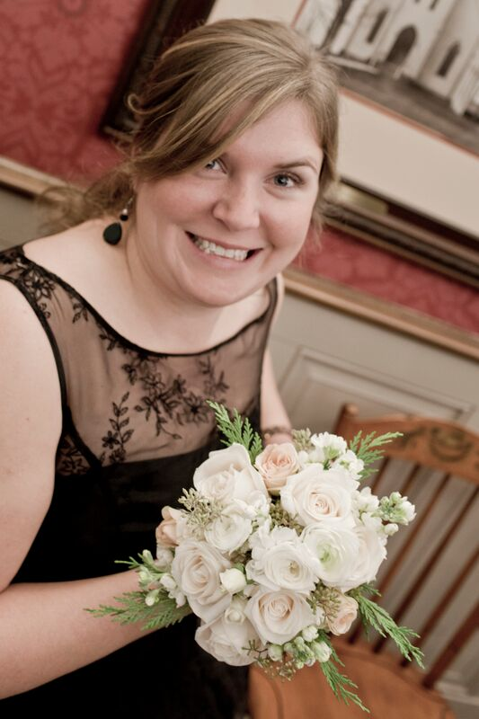 Bridesmaid bouquet. Photo credit: Abby Verbosky